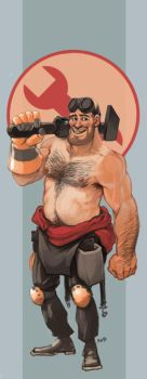 Shirtless Engineer Bookmark by KGBigelow