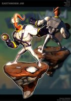 Earthworm Jim Pose by sterna