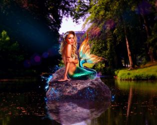 LAKE MERMAID by scifilicious