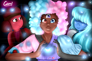 Garnet's first fusion | Steven Universe! by CamilaAnims