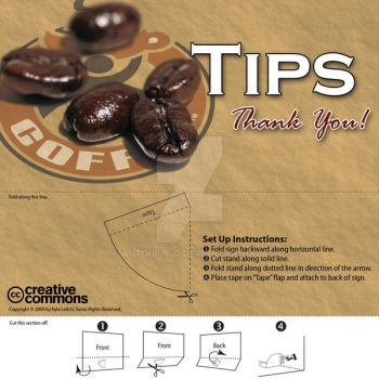 Tips Sign for MyCoffee by antonius-q