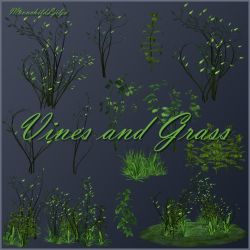 Vines and Grass png by moonchild-ljilja