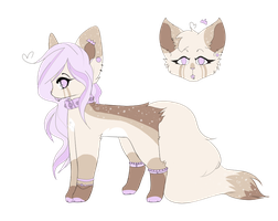 Purple Princess Auction! (Comes with art, Open) by MintyCatwolfDA