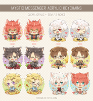 Mystic Messenger Keychains by Toxicmilkk