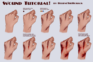 Wound Tutorial by BelieveTheHorror