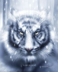 Siberian Tiger Full Painting by Red-Rogers