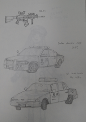 American Police car Practice 2 by sunung0317