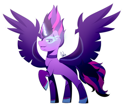 midnight sparkle Comission by PaintColorYT