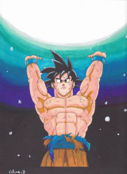 Son goku by Sakuchane
