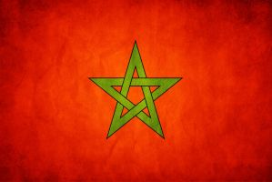 Morocco Grunge Flag by think0