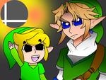 The Two Links Smash Bros by Rosegirl28