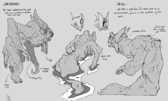 Cave Creatures by DavidSequeira