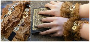 Steampunk Wrist Cuffs by BaziKotek