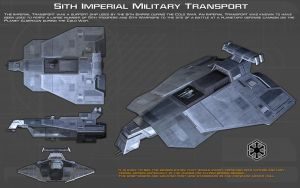 Sith Imperial military transport ortho [New] by unusualsuspex