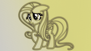 Fluttershy Outline Wallpaper Pack by Game-BeatX14