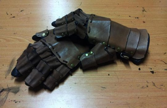 Leather armored gloves by ForgeCreations