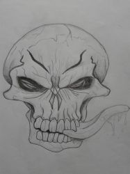 Evil skull by Glaurich