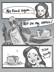 Deadpools Magical Summoning Pancake Powers! by WhitsArt