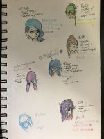 Faces, views, and hair styles by NikaGhost