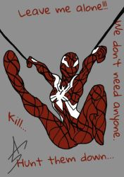 Scarlet-Spider's New Attitude by A5L-Legion