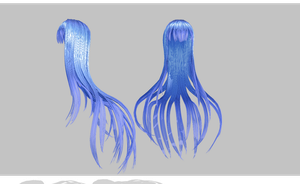 MMD tentacle hair by amiamy111