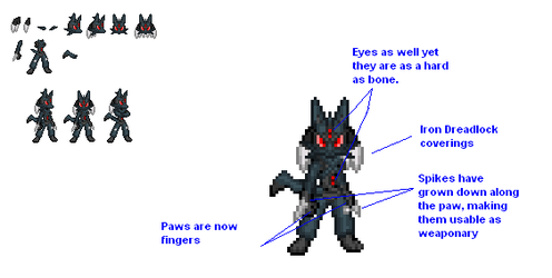 Lucario is evoluving by ralord