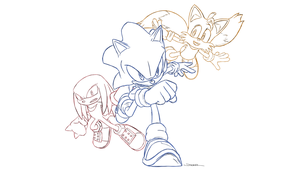 Sonic, Tails and Knuckles by Katskinn