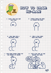 Roys Art Lesson 01 - How to draw He-Man by AF16