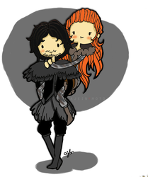 Game Of Thrones - Snow and Ygritte by jeinirelova