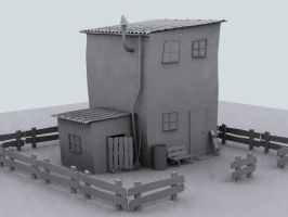 The Farmhouse Model by bindyeye