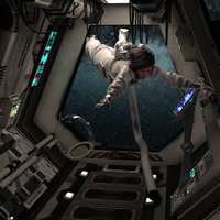 Space Suit Women Air Lock Peril by chow11