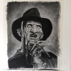 Freddy Krueger in Charcoal by JonARTon