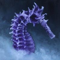 Purple Seahorse by crazycolleeny
