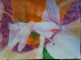 Orchid Praying Mantis- Water Color by Band-Geek24