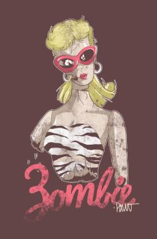 Zombie Barbie by paulorocker