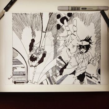 Inktober Day 27 And 28 by kaushikc32