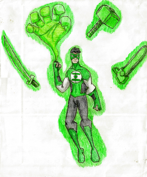 Green Lanter: Kyle Rayner by Newworlds117