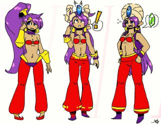 Shantae might be part-time shopkeeper now, hehe! by HornedRam