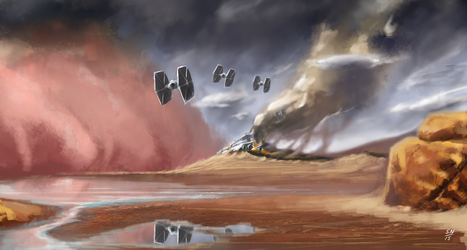 Crashed Star Destroyer by AdaptableSimon