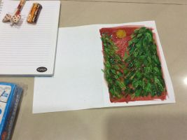 Holiday Card Project - Half Done by Musa-Eyre
