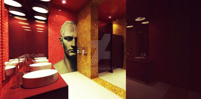 Night Club WC interior design by zaur191