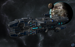 Tora Artillery Frigate by Nyctaeus