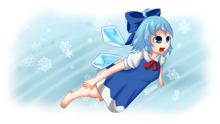 Touhou - Cirno by extreme-sonic