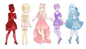 Cubic Zirconias Main Pearls by LadyNephthys