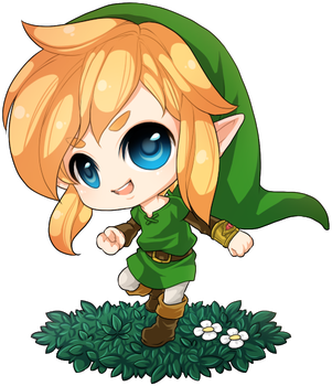 :Link: Chibi A Link Between Worlds by PrinceOfRedroses