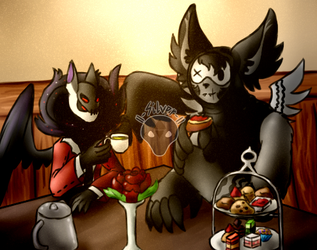 Brunch time (Valentine's Blind Date) by ll-Silver-ll