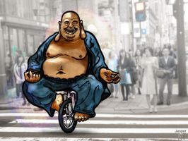 Buddha on bike by Jasper-M