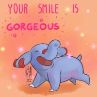 Your Smile Is Gorgeous! by KumaMask