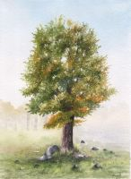 Ash Tree Painting by aakritiarts