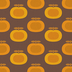 Retro Brown Pumpkin Print by kpucu